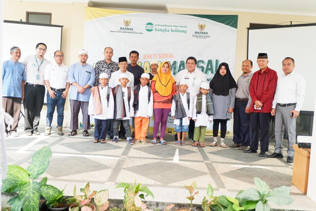 Khitan 100 Anak Kurang Mampu di Rumah Sehat Baznas-Timah