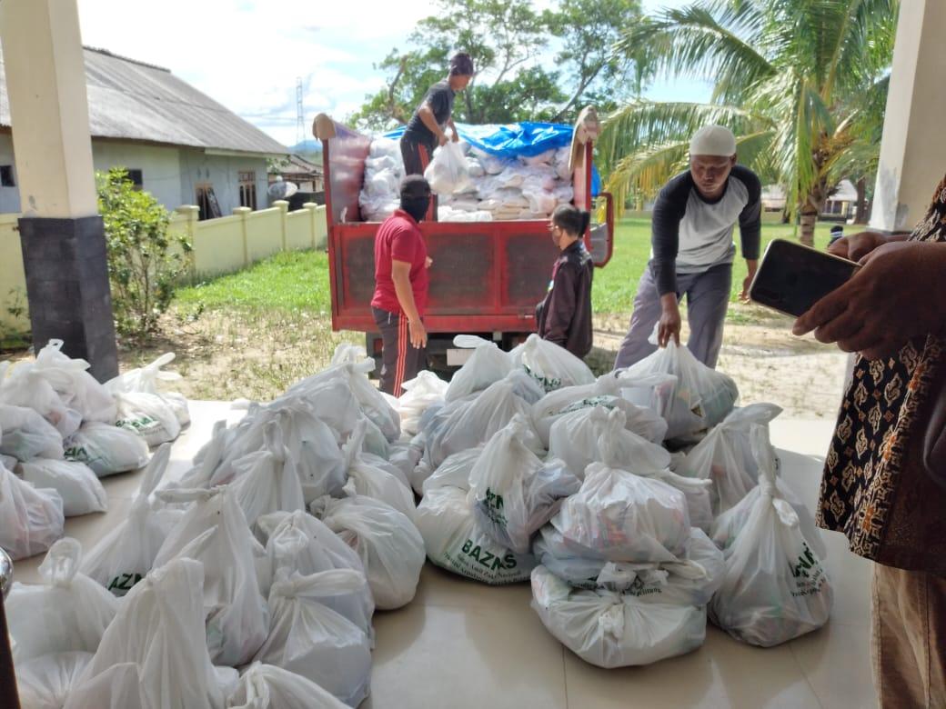 BAZNAS Babel Kerjasama Distribusikan Paket Logistik Keluarga