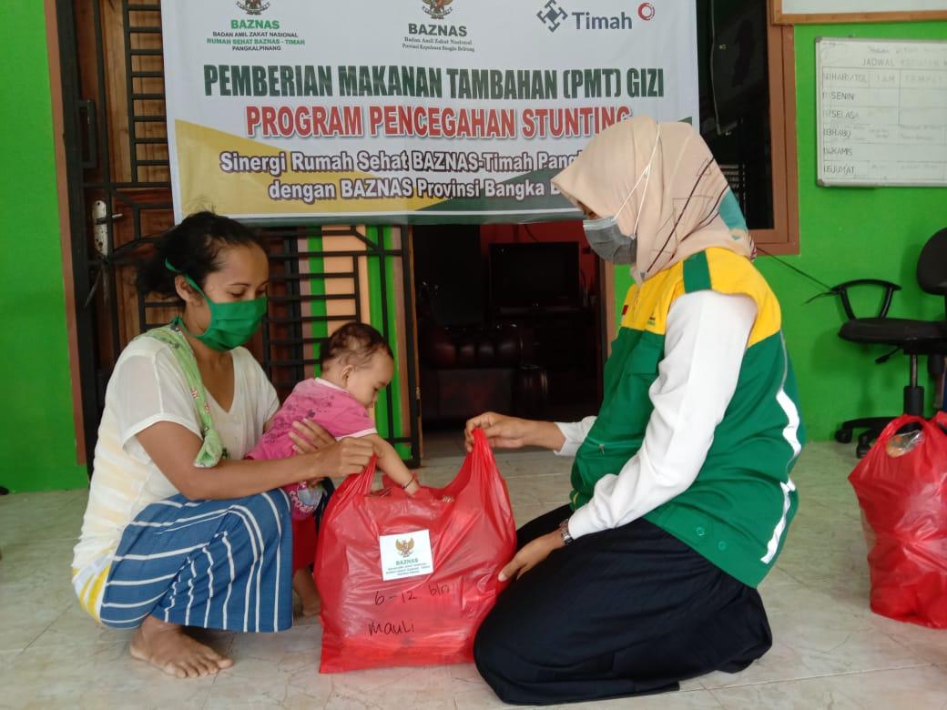Sinergi Rumah Sehat BAZNAS dengan BAZNAS Provinsi Babel Cegah Anak Stunting